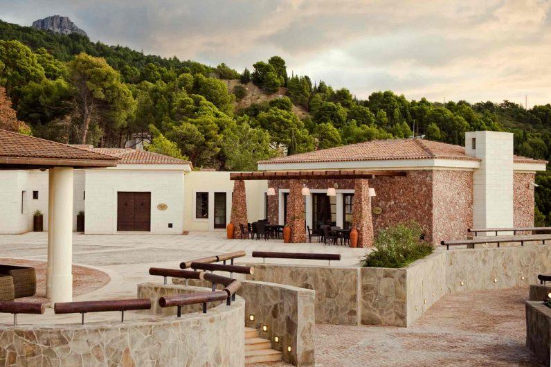 Vue du patio entre les résidences Crimea Breeze