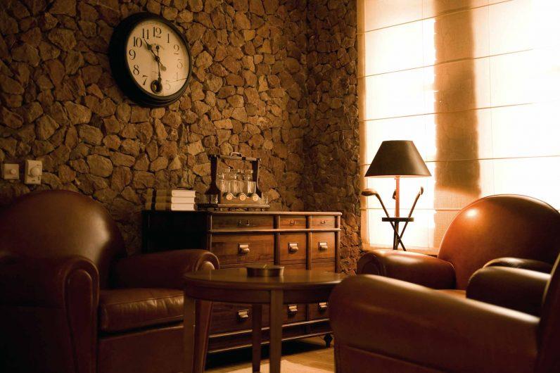 Vue détaillée d'un salon de la residenze