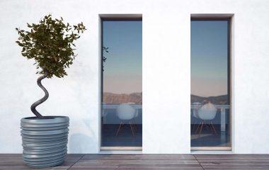 Skyline Door con posa a filo muro interna ed esterna