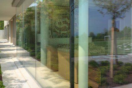 Villa Desenzano, détail d'angle en verre