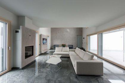 Villa Milano, vue du salon