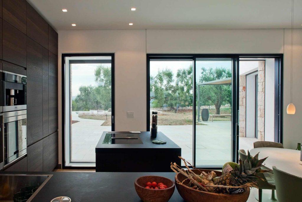 Villa Ostuni, vue des fenêtres de la cuisine