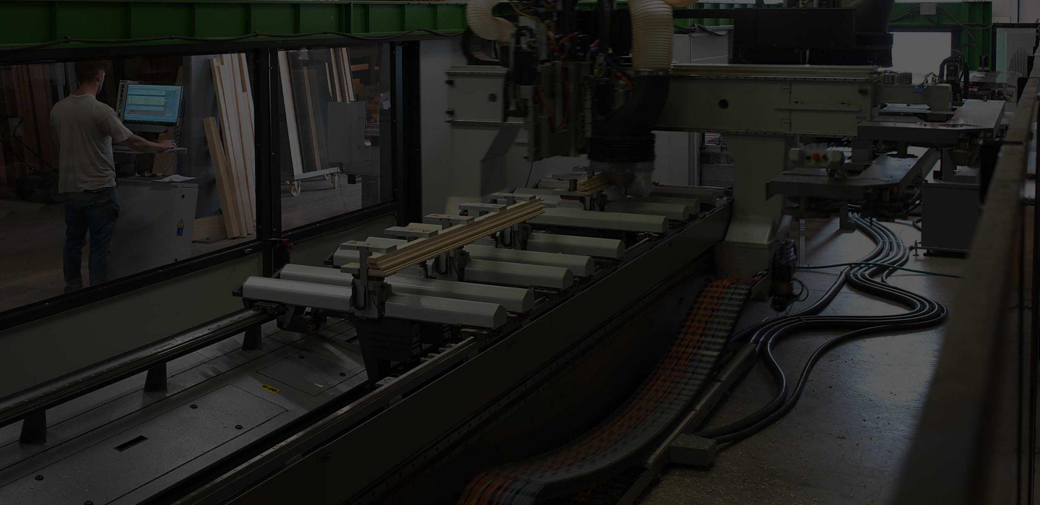 Vue d'une machine de production