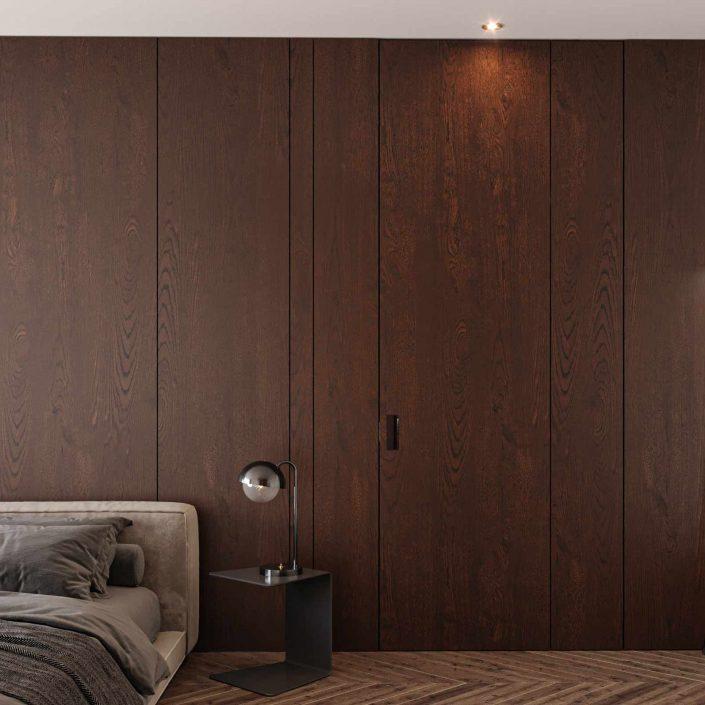 Porte en bois revêtue Carminati